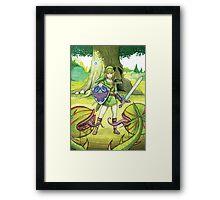 Zelda ocarina of time Framed Print
