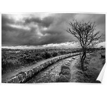 Dark Dartmoor, Devon, UK Poster