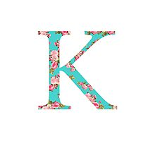 Kappa Rose Letter Photographic Print