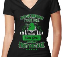 Chess Hot Shirt-Girls Special Women's Fitted V-Neck T-Shirt