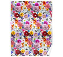 Beautiful Flowers Concoction Pattern Poster