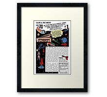 Space Rangers Comic Ad Framed Print
