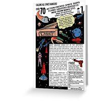Space Rangers Comic Ad Greeting Card