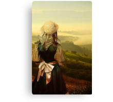 Young traveller in Moravia Canvas Print