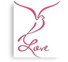 Love Dove Canvas Print