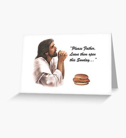 Jesus Chick-fil-a Greeting Card