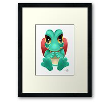 Shiny Treecko Framed Print