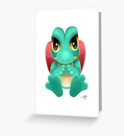 Shiny Treecko Greeting Card
