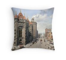 Niagara Street, Buffalo, 1908 Throw Pillow