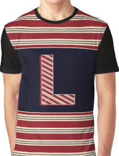 1920s Boston Monogram Letter L Graphic T-Shirt