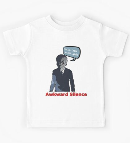 Awkward Silence - Doctor Who  Kids Tee