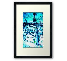 St Kilda Beach On A Cold DAy  Framed Print