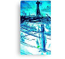 St Kilda Beach On A Cold DAy  Canvas Print