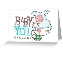 Baby Yeti Crochet Greeting Card