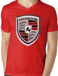 PORSCHE Mens V-Neck T-Shirt
