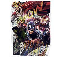 The Avengers Strike Back! Poster