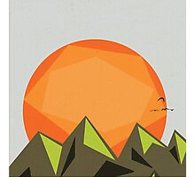 When sun meets evil mountain Photographic Print