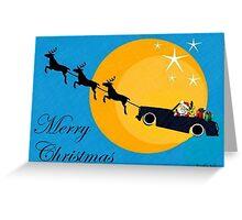 MG Santa's new sleigh Greeting Card