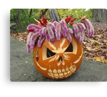 Wigged Out for Halloween Canvas Print