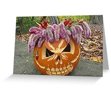 Wigged Out for Halloween Greeting Card