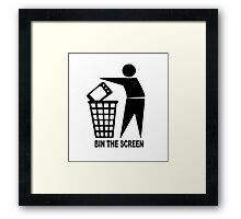 BIN THE SCREEN Framed Print
