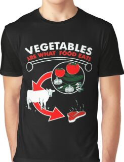 VEGETABLES ARE WHAT FOOD EATS JUNK FOOD TEE Mens NEW GOT HUMOR Graphic T-Shirt