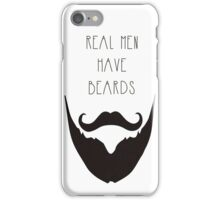 Real Men & Beards iPhone Case/Skin