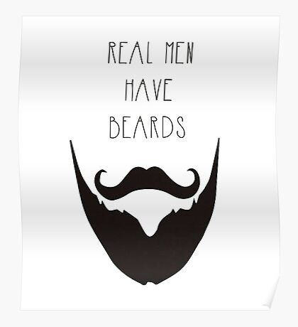 Real Men & Beards Poster