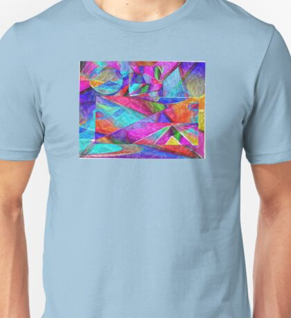 pastel abstract tissue collage 1 Unisex T-Shirt