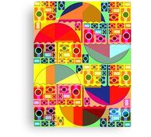 Colorful umbrellas and cameras Canvas Print