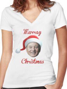 Murray Christmas! Women's Fitted V-Neck T-Shirt