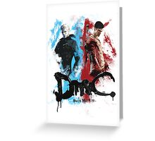 DmC 'Devil May Cry' - Worlds Collide Greeting Card