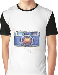 Watercolor vintage photo camera Graphic T-Shirt