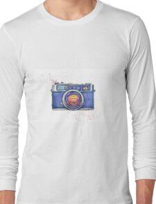 Watercolor vintage photo camera Long Sleeve T-Shirt