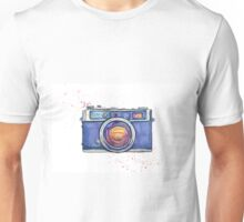 Watercolor vintage photo camera Unisex T-Shirt