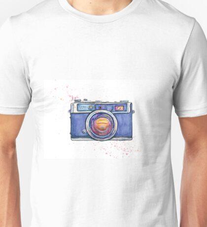 Watercolor vintage photo camera Unisex T-Shirt