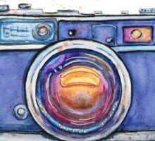 Watercolor vintage photo camera Sticker