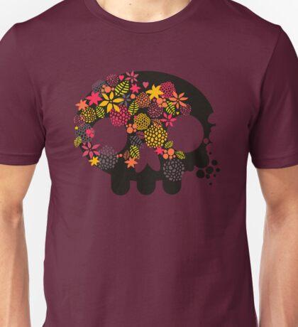 Skulls and flowers. Unisex T-Shirt