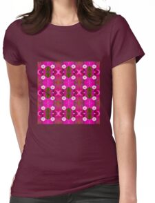 Bougainvillea Pink (VN.424) Womens Fitted T-Shirt