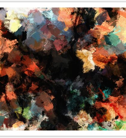 Contemporary Abstract Painting Sticker