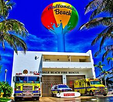 HALLANDALE FIRE STATION by KayakErica