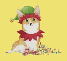 Christmas Corgi Kids Tee