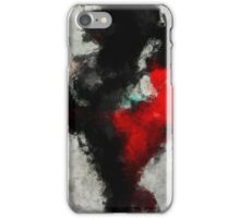 Black and Red Minimalist Abstract Painting iPhone Case/Skin