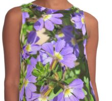 Tiny Purple Flowers Contrast Tank