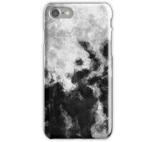 Black and White Minimalist Abstract Painting iPhone Case/Skin