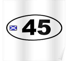 45 BUMPER STICKER Poster