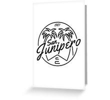 Black Mirror San Junipero Light Greeting Card