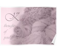 Kind Thoughts Lilac Card Poster