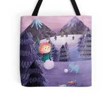 Build A Snowman Tote Bag