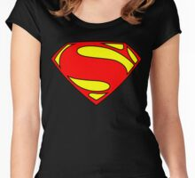 SUPERMAN Women's Fitted Scoop T-Shirt